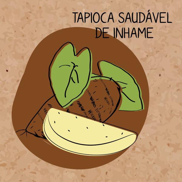 Massa de Tapioca Saudável de Inhame 500g LANCHE VERDE