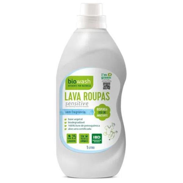 Lava Roupas Sensitive Liquido BIOWASH 1L
