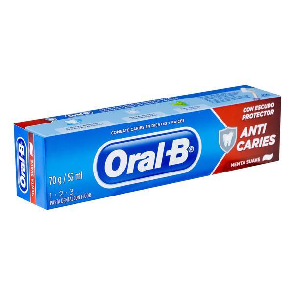 Creme Dental Menta Suave Oral-B 1-2-3 Caixa 70g