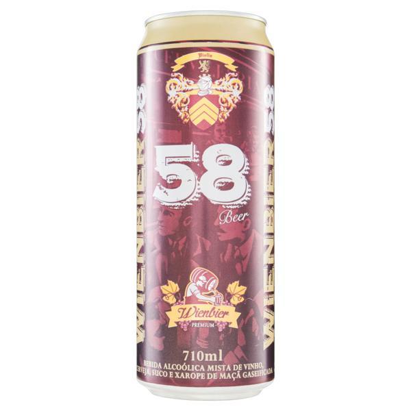 Bebida Mista Alcoólica Gaseificada Wienbier 58 Beer Lata 710ml