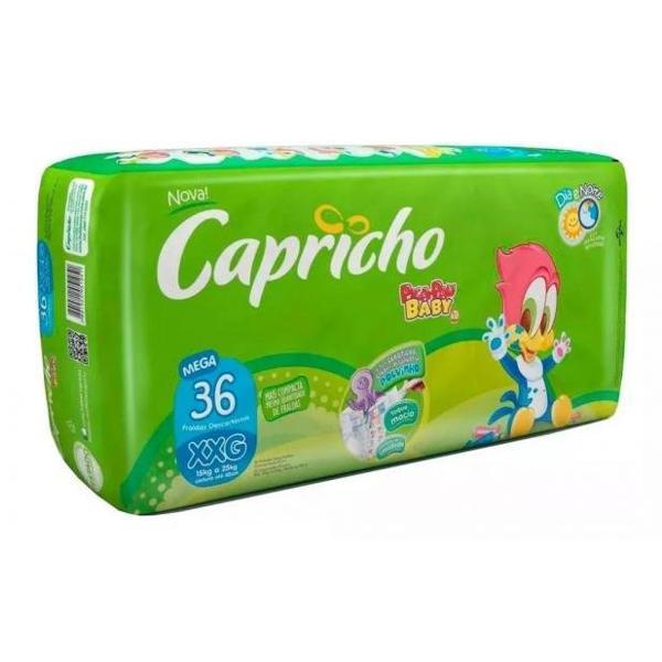 Fralda CAPRICHO Pica Pau Mega XXG Com 36 Unidades