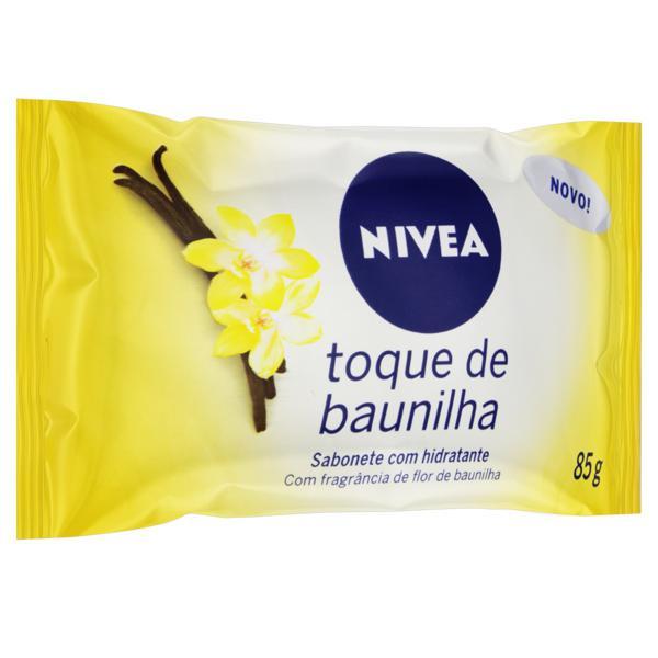 Sabonete em Barra Hidratante Toque de Baunilha Nivea Pacote 85g