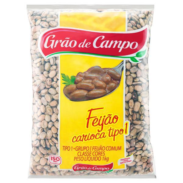 Feijão Carioca Tipo 1 Grão de Campo Pacote 1kg