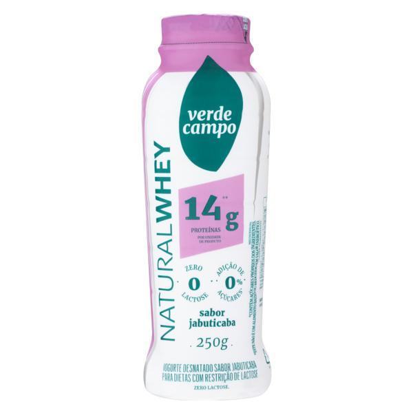 Iogurte Desnatado Jabuticaba Zero Lactose Verde Campo Natural Whey Frasco 250g