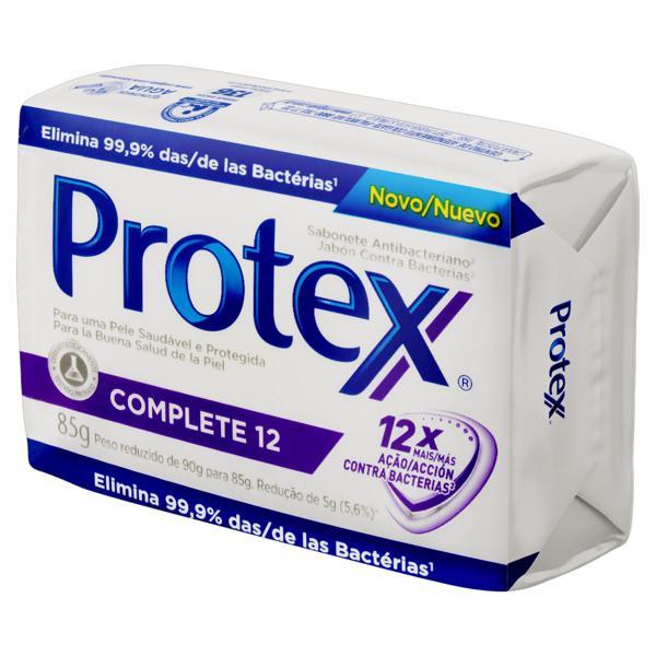 Sabonete em Barra Antibacteriano Protex Complete 12 Cartucho 85g