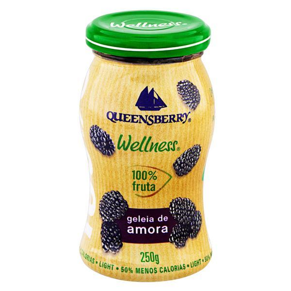 Geleia 100% Fruta Amora Light Queensberry Wellness 250g