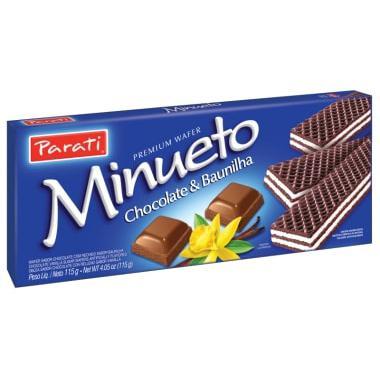 Biscoito Wafer PARATI Chocolate e Baunilha 115g