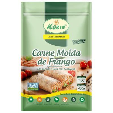 Carne Moída de Frango Sustentável Korin 400g