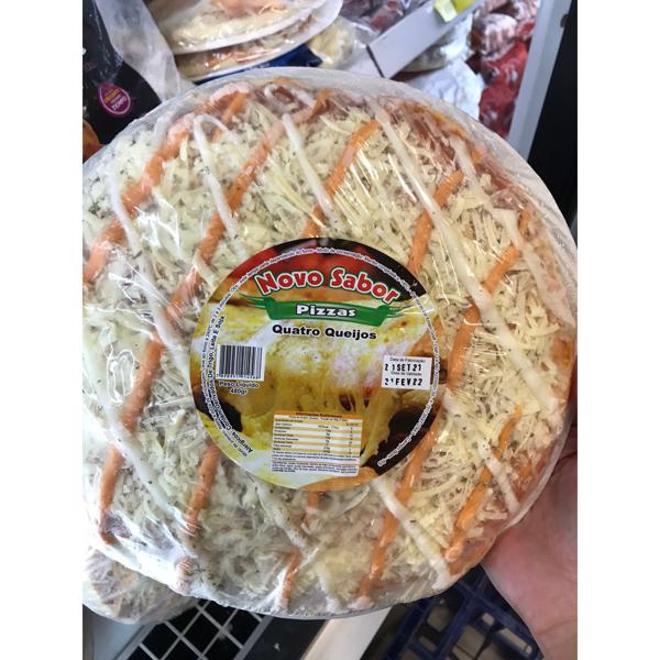 Pizza Novo Sabor 4 Queijos 480G Congelada