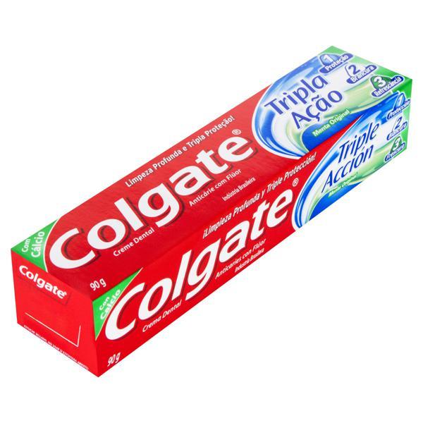 Creme Dental Menta Original Colgate Tripla Ação Caixa 90g