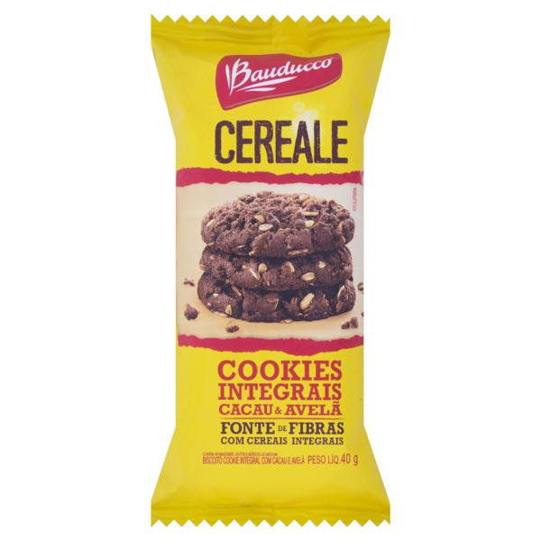 Biscoito Cookie Integral Cacau e Avelã Bauducco Pacote 40g