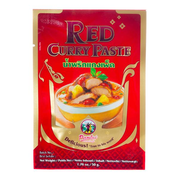 Pasta de Curry Vermelho PANTAI Pacote 50g