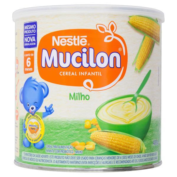Cereal Infantil Milho Nestlé Mucilon Lata 400g