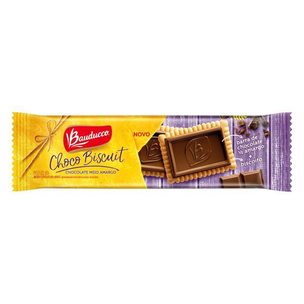 Biscoito Choco Biscuit Meio Amargo Bauducco Pacote 80g