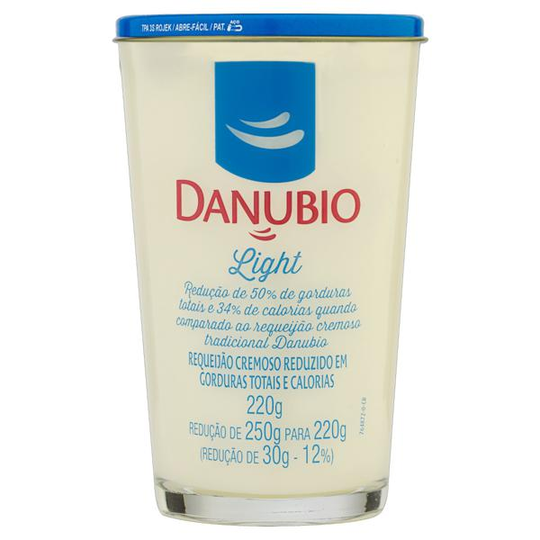 Requeijão Cremoso Light Danubio Copo 220g