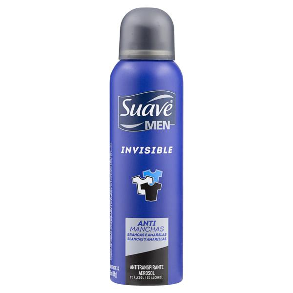 Antitranspirante Aerossol Invisible Suave Men 150ml