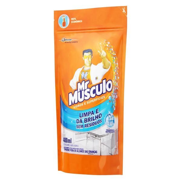 Limpa-Vidro Líquido Mr Músculo Sachê 400ml Refil Econômico