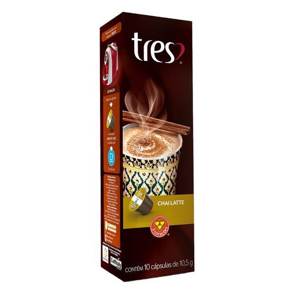 Chá em Cápsula Chai Latte Tres Caixa 105g 10 Unidades
