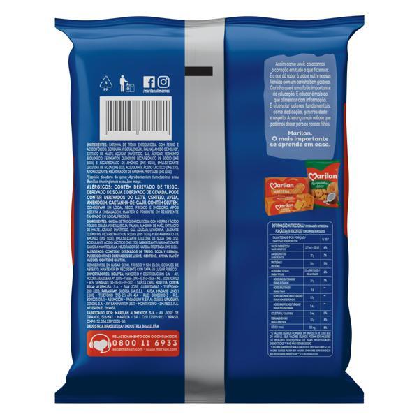 Biscoito Água e Sal Marilan Pacote 400g