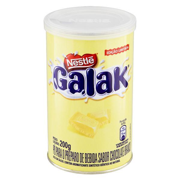 Pó para Preparo de Bebida Chocolate Branco Nestlé Galak Lata 200g