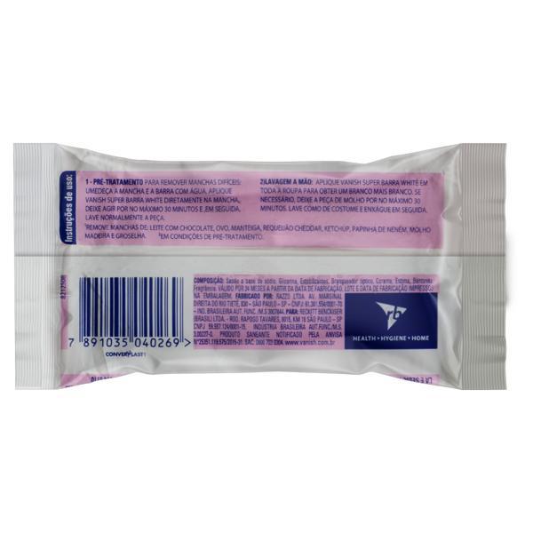 Tira-Manchas em Barra Branqueador Vanish White Pacote 75g