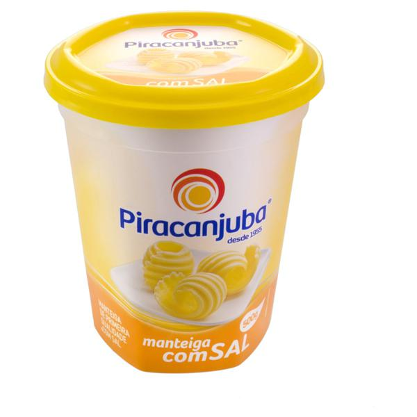 Manteiga de Primeira Qualidade com Sal Piracanjuba Pote 500g