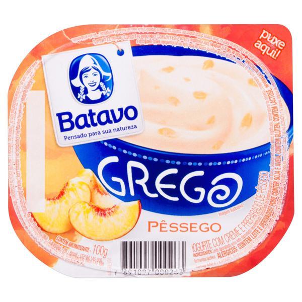 Iogurte Grego Pêssego Batavo Pote 100g