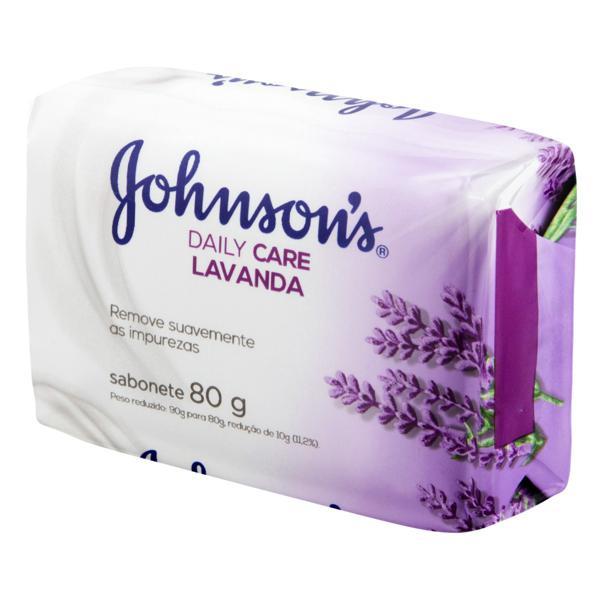 Sabonete em Barra Lavanda Johnson's Daily Care Cartucho 80g