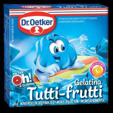 Gelatina Dr.Oetker 20G Tutti - Frutti