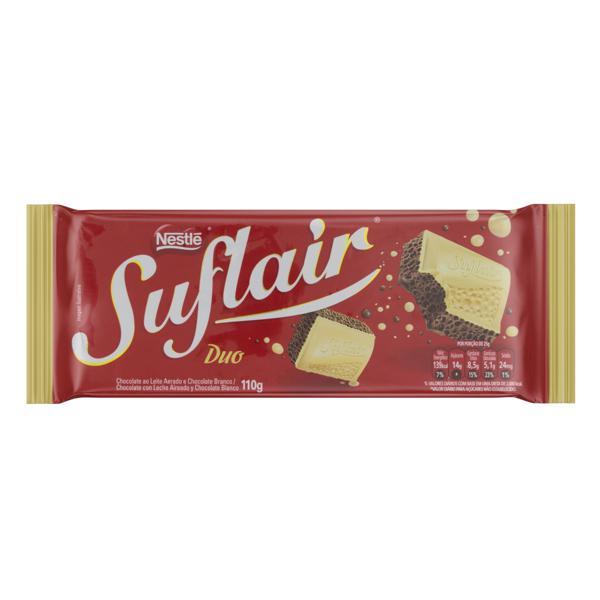 Chocolate ao Leite  e Branco Nestlé Suflair Duo Pacote 80gr