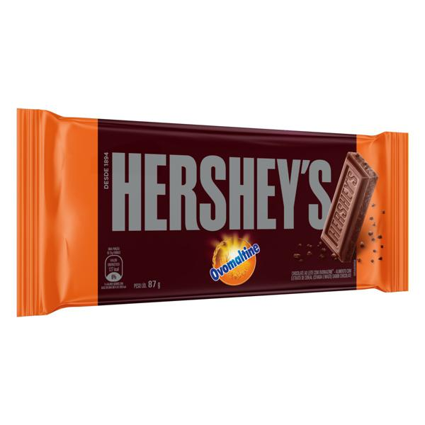 Chocolate ao Leite Ovomaltine Hershey's Pacote 87g