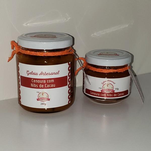 Geleia de Cenoura com Nibs de Cacau 240g - Amanda Sales Confeitaria