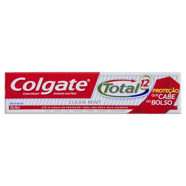 Creme Dental Clean Mint Colgate Total 12 Caixa 50g