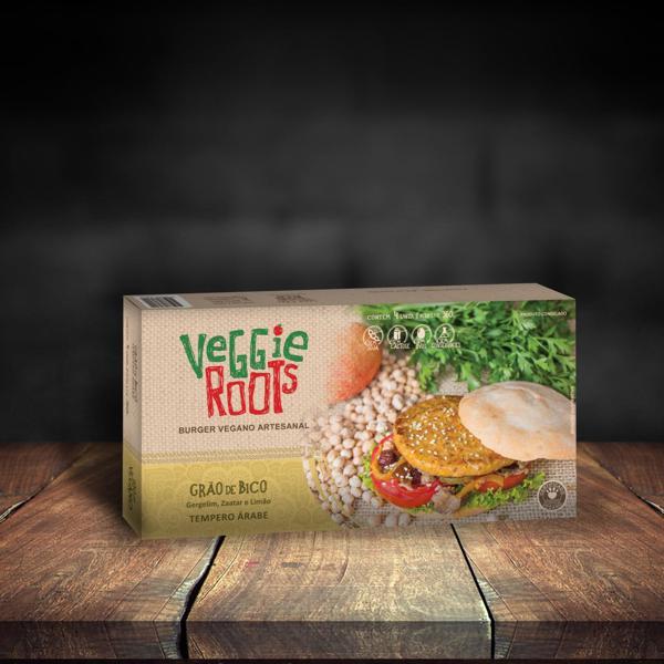 Hambúrguer Vegano Grão de Bico 360g - Veggie Roots