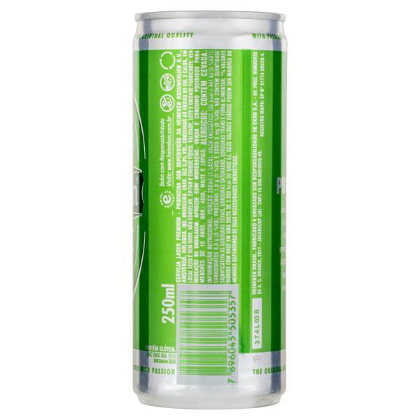 Cerveja Lager Heineken Lata 250ml