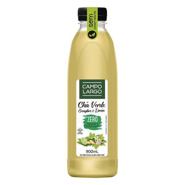 Chá Verde Gengibre & Limão Zero Açúcar Campo Largo Garrafa 900ml