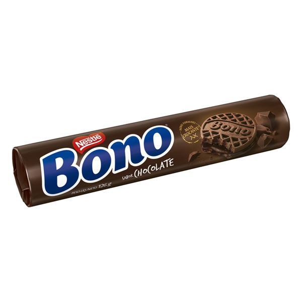Biscoito Recheio Chocolate Nestlé Bono Pacote 126g