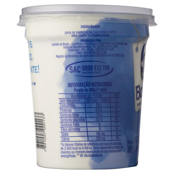 Iogurte Grego Tradicional Batavo Pote 500g