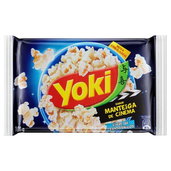 Pipoca para Micro-Ondas Manteiga de Cinema Yoki Pacote 100g
