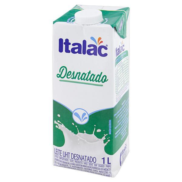 Leite UHT Desnatado Italac Caixa 1l