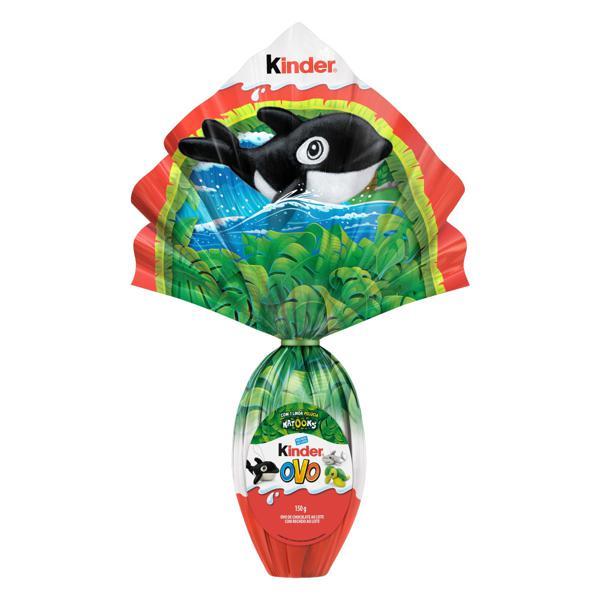 Ovo de Páscoa ao Leite Natoons Kinder 150g Vem com Linda Pelúcia