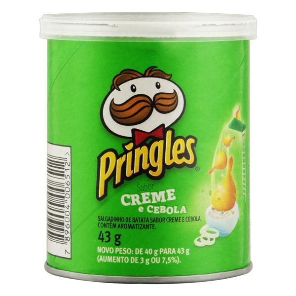 Salgadinho de Batata Creme e Cebola Pringles Lata 43g
