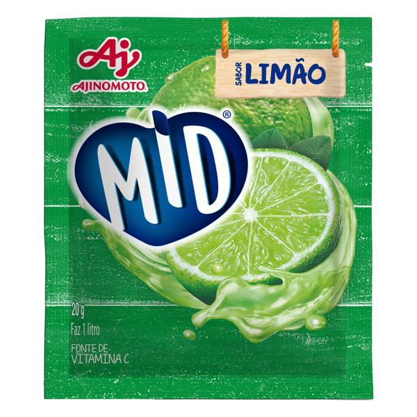 Refresco em Pó Limão Mid Pacote 20g