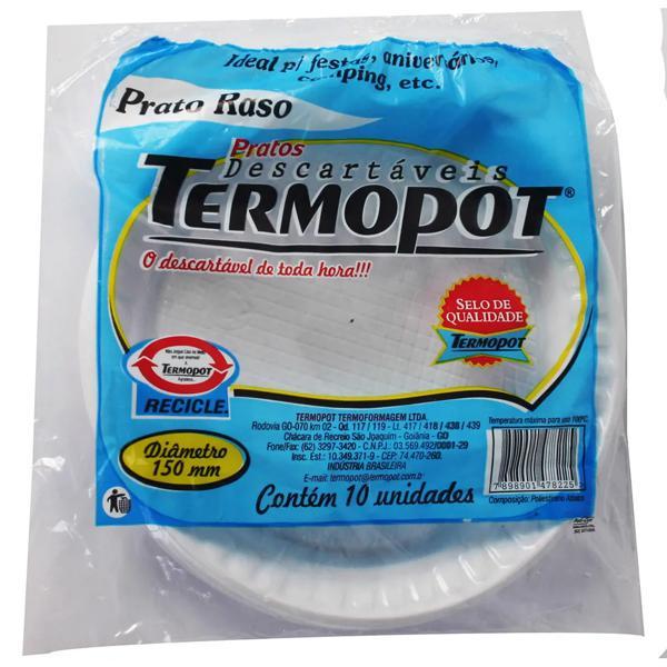 Prato Descartável Termopot 10X1 15Cm