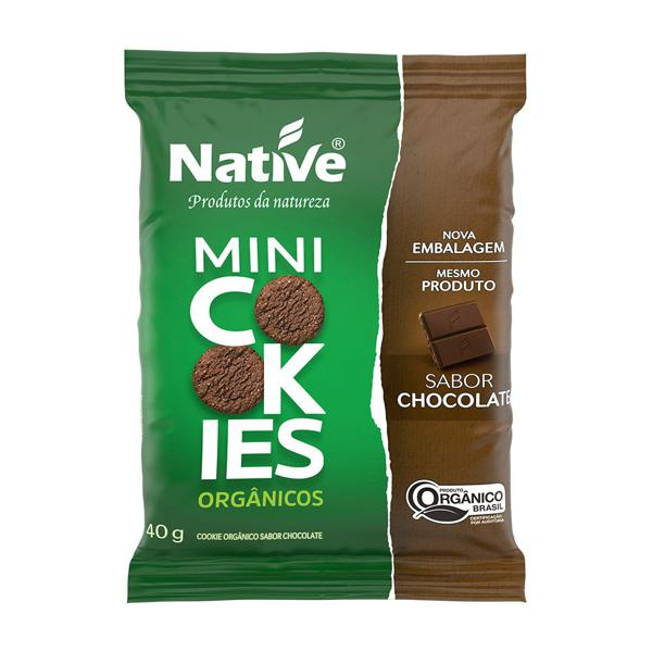 Mini Cookies Aveia e Cacau Orgânicos 40g - Native