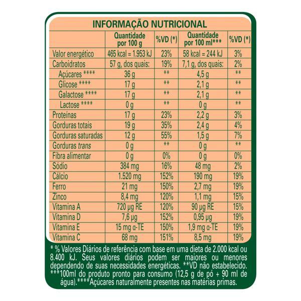 Composto Lácteo Zero Lactose Nestlé Ninho Forti+ Lata 380g