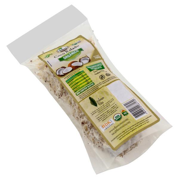 Coco Ralado Desidratado em Flocos Orgânico Finococo Pacote 100g