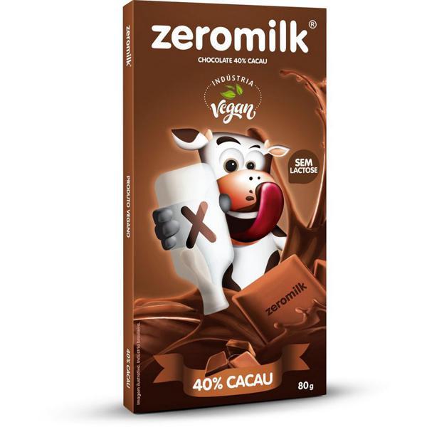 Chocolate Genevy Soy ZEROMILK Puro Sem Lactose 40% Cacau 80g