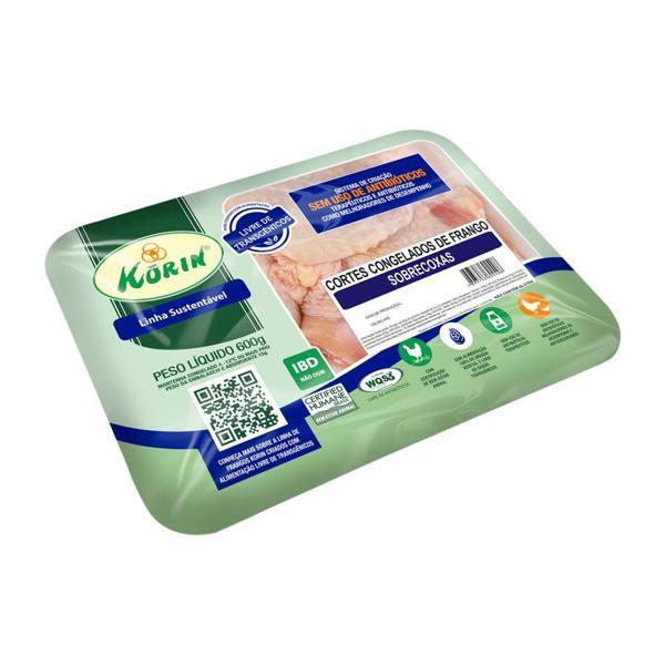 Sobrecoxa de frango sustentável 600g - Korin