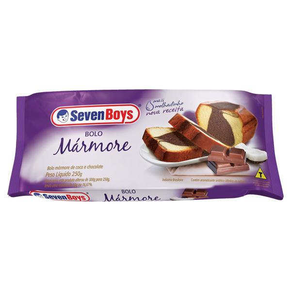 Bolo Mármore Coco e Chocolate Seven Boys Pacote 250g